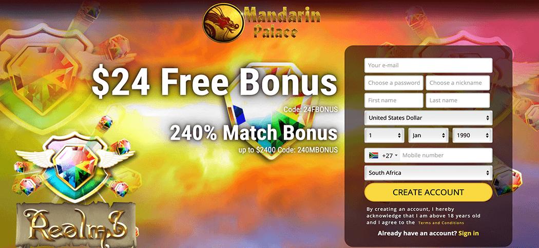 Mandarin Palace Casino Bonus Codes 2021