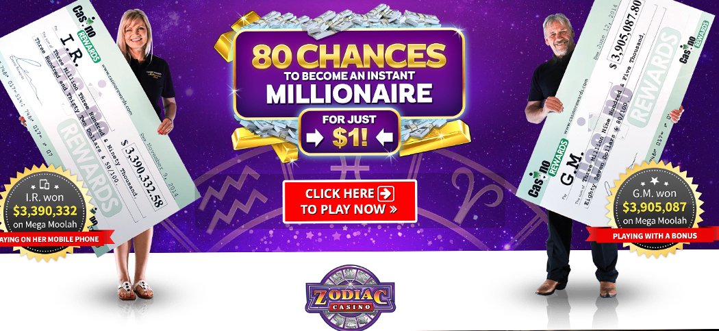 Zodiac Casino 50 Free Spins